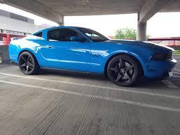 Black 04 Mustang Gt Grabber Blue Ford Mustang Gt S197 Forgestar Cf5 Matte Black Deep
