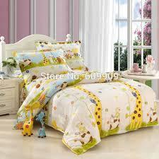 5 pieces giraffe bedding set kids queen size bedding sheets twin