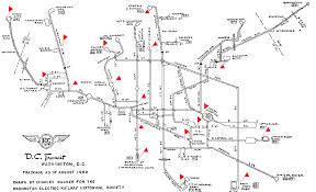 washington dc trolley map the district curmudgeon april 2010