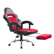 high back office chair gaming swivel race car style pu recliner