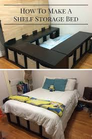 Best Wood To Build A Platform Bed by Best 25 Diy Storage Bed Ideas On Pinterest Beds For Small Rooms
