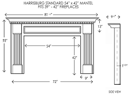 Wood Mantel Shelf Plans by Harrisburg Standard Size Mantel Wood Fireplace Fireplace Mantel