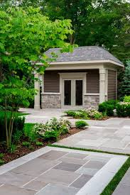 Garage French Doors - generator interlock garage and shed traditional with french doors