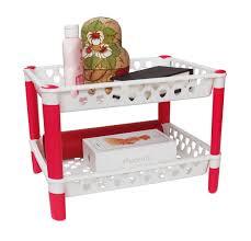 honla plastic kitchen cabinet and counter shelf organizer rack