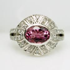layaway engagement rings vintage deco style tourmaline cocktail engagement ring