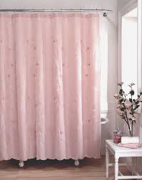 Pale Pink Bathroom Accessories by Lola Shabby Chic Fabric Shower Curtain Curtainworks Com