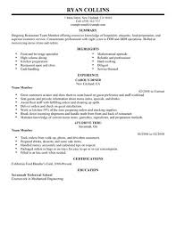 Food Prep Resume Example by Best Restaurant Team Member Resume Example Livecareer