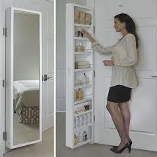 Cabidor Behind The Door Mirror Storage Cabinet At Brookstone Buy Now