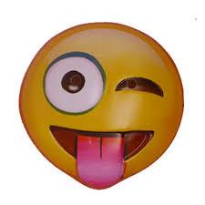 winking tongue out emoji mask walmart com