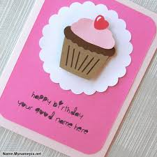 cupcake birthday wish card name picture wishes name generator