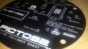 custom pcb for line follower robot let u0027s make robots robotshop