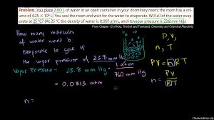 vapor pressure example video khan academy