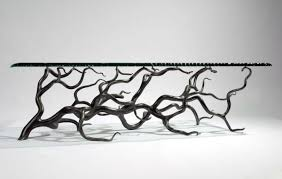 branch coffee table rectangular mark reed sculpture