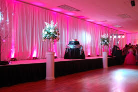 pipe and drape rental pipe and drape with pink uplighting event lighting rental