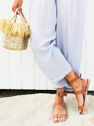 torrence flat sandal essential flat sandal featuring a suede