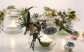 jar table decorations decorated christmas jars