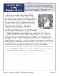 9th Grade Reading Comprehension Worksheets Setting The Great Expectations 9th 10th Grade Reading