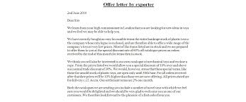 Business Letter Offer quotations letter writing business letter exles