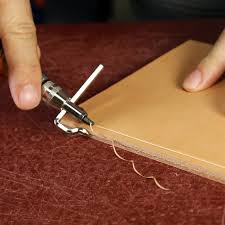the best way to sew leather is actually by hand here u0027s how