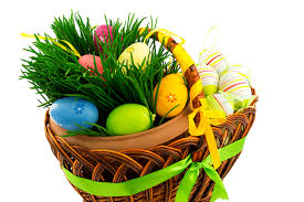 easter basket grass easter eggs wicker basket grass holidays