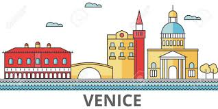 Map Italy Silhouettes Italian Cities by Venice City Skyline Buildings Streets Silhouette Architecture