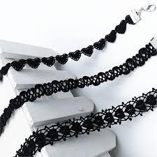crochet necklace black images Black fashion crochet choker necklace 3 designs available jpg