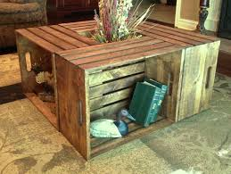 coffee tables attractive crate coffee table diy era home design