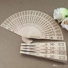 fan favors fragrance wood fan wedding fan with personalized
