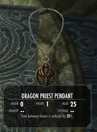 dragon necklace skyrim images Dragon priest pendant legacy of the dragonborn fandom powered
