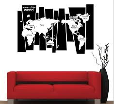 Decorative World Map Removable Pvc Large World Map Wall Sticker Poster Home Decoration