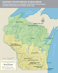 Montana Hunting Maps by Wisconsin Hunting Opportunities Map The Nature Conservancy