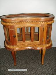 Small Vintage Desks by Vintage Vitrine Kidney Shaped Cabinet Removable Tray Accent Table