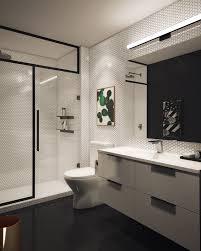 Designing A Bathroom Basic Bathroom Gets A Graphic Modern Renovation Modern