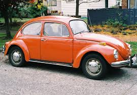 volkswagen old beetle modified a vintage orange volkswagen beetle this was our mode of