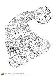 Dessin à colorier pour un hiver zen un bonnet avec pompon