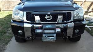 nissan frontier winch bumper titans with brush guards winches page 2 nissan titan forum
