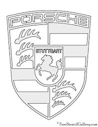 stuttgart porsche logo porsche logo stencil free stencil gallery