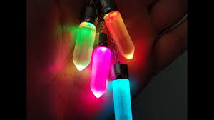 led light up pendant necklace multi color glow