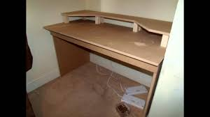 Music Studio Desk Plans by My New Home Made Desk Youtube