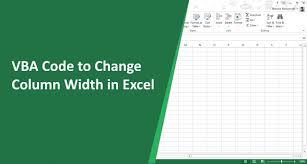 vba code to change column width in excel excel do easy