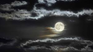 moon and clouds images wallpaper