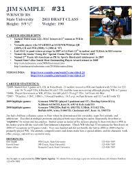athletic resume template sports profile template paso evolist co