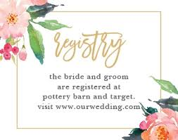 wedding registry cards wedding enclosure cards by basic invite