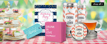 personalized party supplies personalized party supplies the stationery studio
