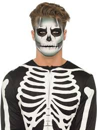Glow In The Dark Skeleton Costume Skeleton Face Paint Make Up Kit Glow In The Dark Halloween Fancy