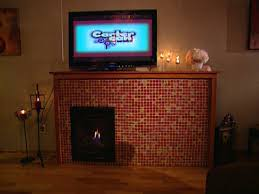 build a mosaic tile fireplace surround hgtv