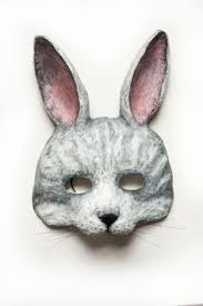 paper mache rabbit rabbit mask bunny mask paper mache animal mask stand by me by
