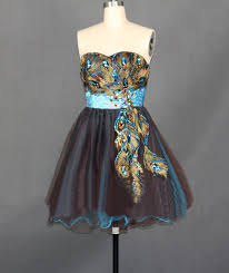20131010 short cocktail dresses 2013 peacock homecoming prom