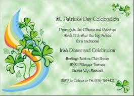 rainbow and shamrocks st paddy u0027s day invitations