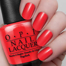 big apple red nail lacquer opi